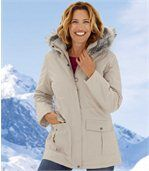 Parka Femme Ecrue Microtech White Valley
