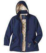 Women's Navy Blue Parka Coat preview3