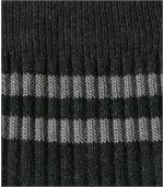 Pack of 5 Men's Pairs of Sports Socks - Black Blue Brown Grey Anthracite