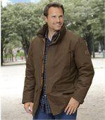 Men's Brown Parka Coat preview1