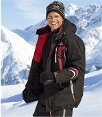 Men's Black Snow Tech Ski Parka