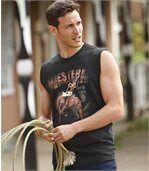 Set van 2 mouwloze shirts 'Western Rodeo' preview2