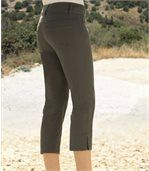 Women's Khaki Stretch Capri Trousers preview1