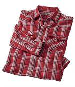 Koszula w czerwoną kratę Kierunek Western preview2