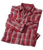 Men's Checked Western-Style Shirt - Cotton preview2
