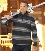 Sweter z moltonu z kołnierzem na suwak preview1