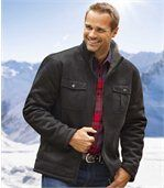 Semišová bunda s patinovaným efektem zateplená umělou kožešinou preview2