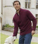 Bavlněný pulovr se zipovým zapínáním ukrku preview1