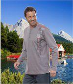 Men's Grey Long Sleeve Top preview1