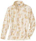 Microfleece sweater met bloemenprint
