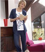 Women's Navy Stylish Trousers