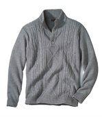 Sweter z kołnierzem zapinanym na guziki Góry Skaliste preview1