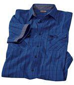 Popelínová kockovaná košeľa Blue Intense preview2