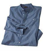 Koszula ze stójką z tkaniny chambray preview2