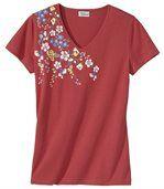 T-shirt met bloemen preview2