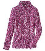 Gemêleerd roze tricotrui preview2