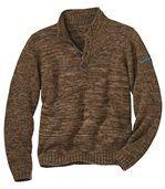 Trykotowy, melanżowy Sweter Yukon