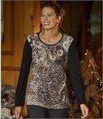 Tričko spotlačou leopardieho vzoru
