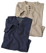 Zestaw 2 t-shirtów z wiązanym dekoltem preview1