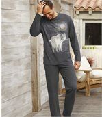 Pyjama mit Wolfsmotiv preview1