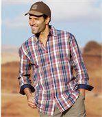 Pestrofarebná kockovaná košeľa preview1
