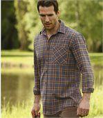 Flanelová košile s antracitově šedou kostkou preview1