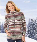 Women's Patterned Fleece Jacket preview1