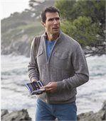 Pohodlný pletený svetr se zipem preview1