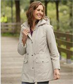 Women's Beige Parak Coat by Atlas for Women preview1