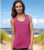 Pack of 2 Women's Tank-Tops - Navy Pink preview2