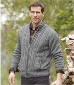 Pletený svetr s fleecovou podšívkou preview1