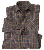 Flanelová košile s antracitově šedou kostkou preview2