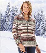 Women's Patterned Fleece Jacket preview2