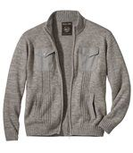 Pohodlný pletený svetr se zipem preview2