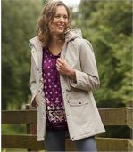 Women's Beige Parak Coat by Atlas for Women preview3
