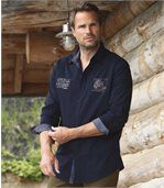 Men's Navy Poplin Shirt preview1