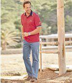 Men's Regular Stretch Blue Jeans