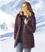 Women's Longline Padded Coat with Hood