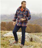 Dunkelblaue Stretch-Jeans im Regular-Schnitt