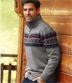 Pletený žakárový sveter preview2