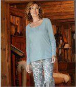 Pyjama met kasjmier print preview2