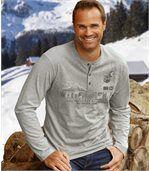2er-Pack T-Shirts Snow Expedition mit Henleykragen preview2