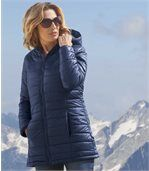 Wattierte Jacke Blue Navy mit Kapuze preview2