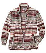 Women's Patterned Fleece Jacket preview3