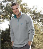 Pack of 2 Men's Microfleece Jumpers - Grey Blue preview2