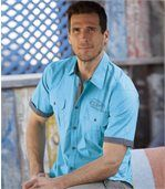 Men's Turquoise Pilot-Style Shirt preview1