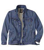 Zateplená džínsová bunda