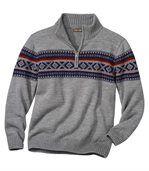Żakardowy sweter z trykotu preview3