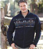 Men's Navy Blue Jacket - Fleece - Colorado Legends  preview1