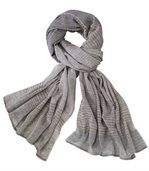 Men's Beige and Grey Tagelmust Scarf preview2